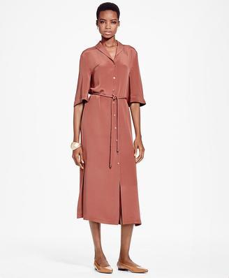 Crepe De Chine Silk Shirt Dress $568 thestylecure.com