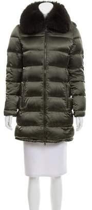 Prada Sport Fox Fur-Trimmed Puffer Coat