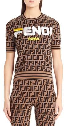 Fendi Sport Logo Short Sleeve Sweater