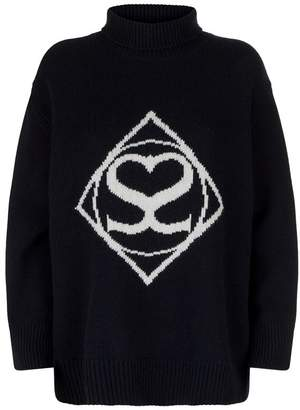 Sandro Logo Wool and Cashmere Sweater