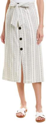 Line & Dot Edna Linen-Blend Skirt