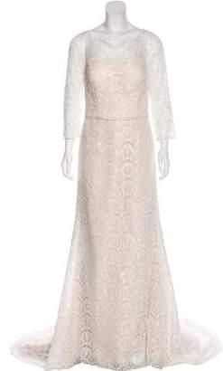 Oleg Cassini Embellished Lace Wedding Gown