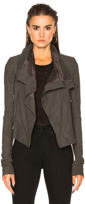 Rick Owens Blister Leather Classic Biker Jacket