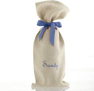 Linen Wine Bag with Grosgrain Tie
