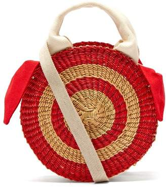 Muun Rosa Straw Bag - Womens - Red Multi