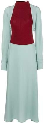 Victoria Beckham High neck panel dress