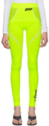 Off-White Yellow Athletic Leggings