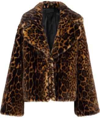Nili Lotan Sedella Leopard-print Faux Fur Coat - Leopard print