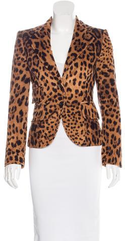 Dolce & GabbanaDolce & Gabbana Leopard Print Corduroy Blazer