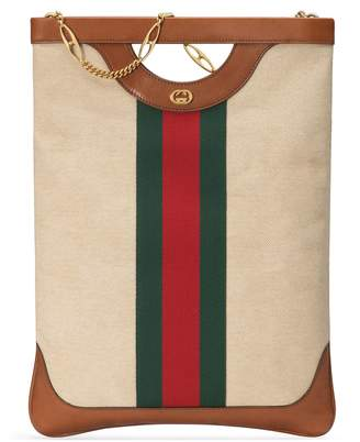 Gucci Large vintage canvas tote