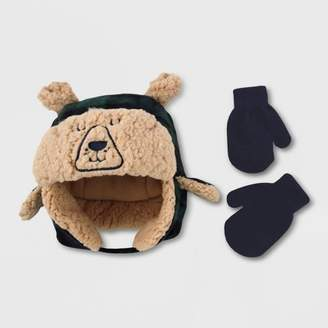 Cat & Jack Baby Boys' Hat And Glove Set Blissful Moss 12-24M