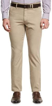 Ermenegildo Zegna Five-Pocket Chino Pants, Medium Beige $375 thestylecure.com