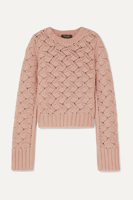 Loro Piana Cable-knit Cashmere Sweater - Pink
