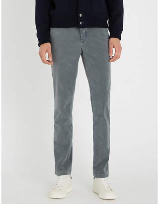 SLOWEAR Slim-fit tapered wool-flannel trousers