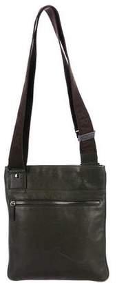Salvatore Ferragamo Grain Leather Messenger Bag