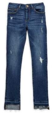 Chloé Girl's Distressed Skinny Jeans