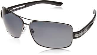 Prada Men's Polarized PR54IS-5AV5Z1 Grey Rectangle Sunglasses