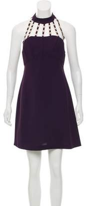 Versace Embellished Mini Dress