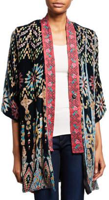 Johnny Was Plus Size Payden Reversible Burnout Velvet/Silk Kimono