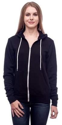 Clementine Apparel Women's Poly-Cotton Fleece Full-Zip Hoodie