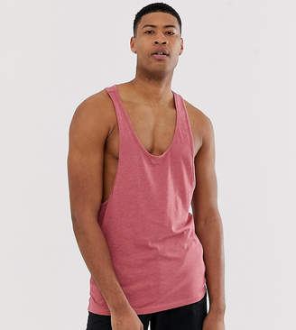 Asos DESIGN Tall tank with extreme racer back in red