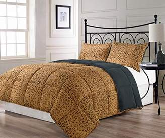 Cozy Beddings BH5012-K Animalia Reversible Down Alternative Animal Print Comforter Set