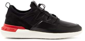 Tod's Active Sport Light 91b Low Top Leather Trainers - Mens - Black