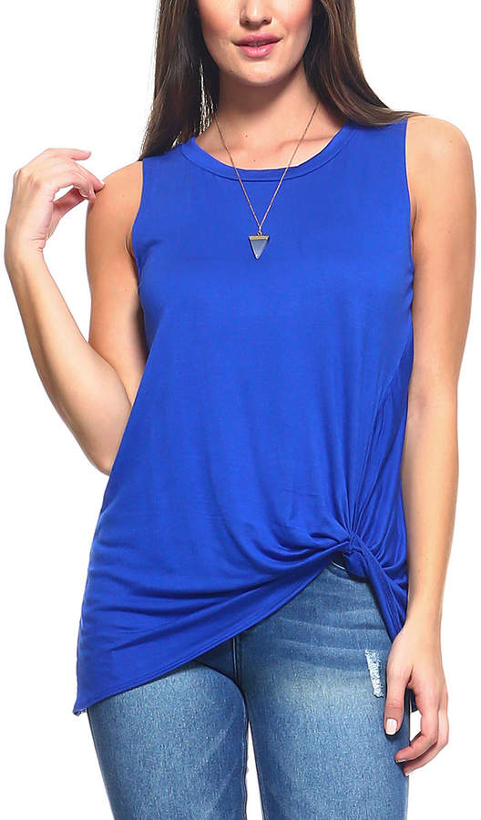 Royal Knot-Accent Sleeveless Top - Women