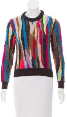 Saint Laurent Mohair-Blend Intarsia Sweater