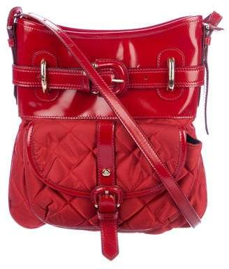 Burberry Leather-Trimmed Quilted Crossbody