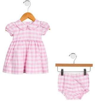 Baby CZ Girls' Gingham Bloomer Set