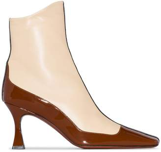 Atelier Manu Duck panelled ankle boots