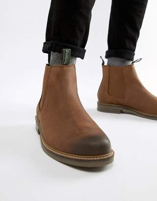 9891c350 Barbour Farsley leather chelsea boots in brown