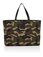 Tomasini Men's Canvas & Leather Tote Bag-Green