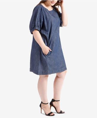 Lucky Brand Trendy Plus Size Chambray Dress