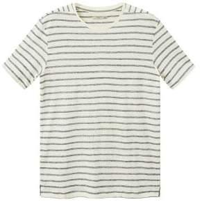 Mango Man MANGO MAN Striped linen t-shirt
