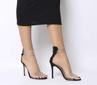 Office Hypnotic Transparent Studded Heels