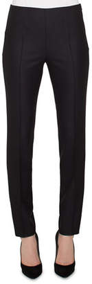 Akris Melissa Skinny Side-Zip Stretch-Flannel Pants