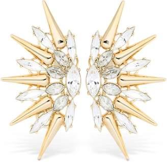 Anton Heunis Crystal Spike Earrings
