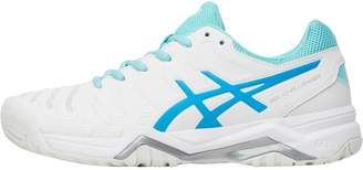 Asics Womens Gel Challenger 11 Tennis Shoes White/Diva Blue/Aqua Splash