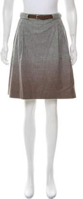 Fabiana Filippi Ombré Virgin Wool Skirt Grey Ombré Virgin Wool Skirt