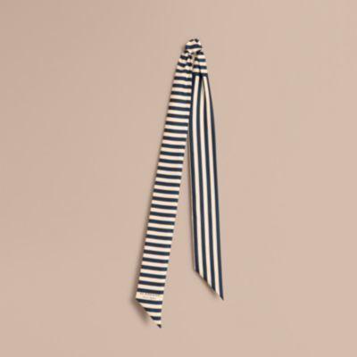 Burberry Burberry Slim Striped Silk Scarf