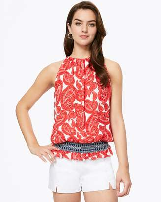 Ramy Brook PRINTED LAUREN SLEEVELESS TOP