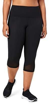 """DAY Birger et Mikkelsen Core 10 Women's Plus Size Race High Waist Run Mesh Capri Legging - 19"""""""