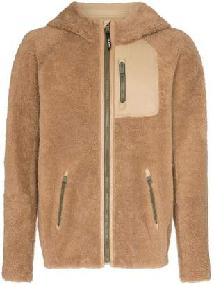 Yves Salomon hooded curly shearling jacket