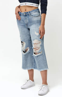 Tommy Hilfiger Annie Mid Rise Culotte Jeans