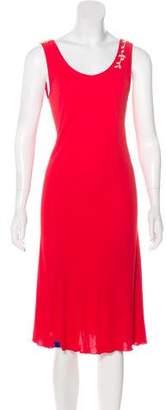 Blumarine Sleeveless Midi Dress