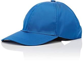 Prada Women's Logo Twill Baseball Cap - Blue