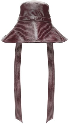 Ganni Patent faux leather hat