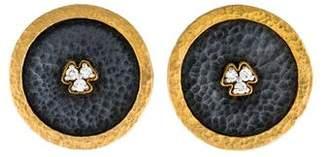 Gurhan Diamond Disk Earclips